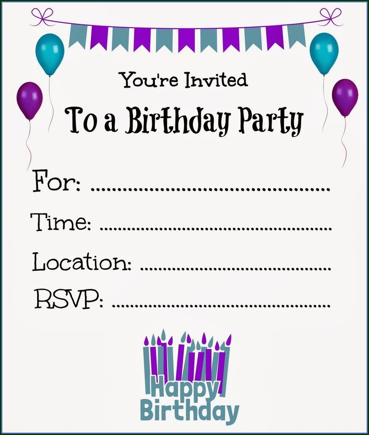 Teenage Girl Teenage Birthday Invitations Templates Free