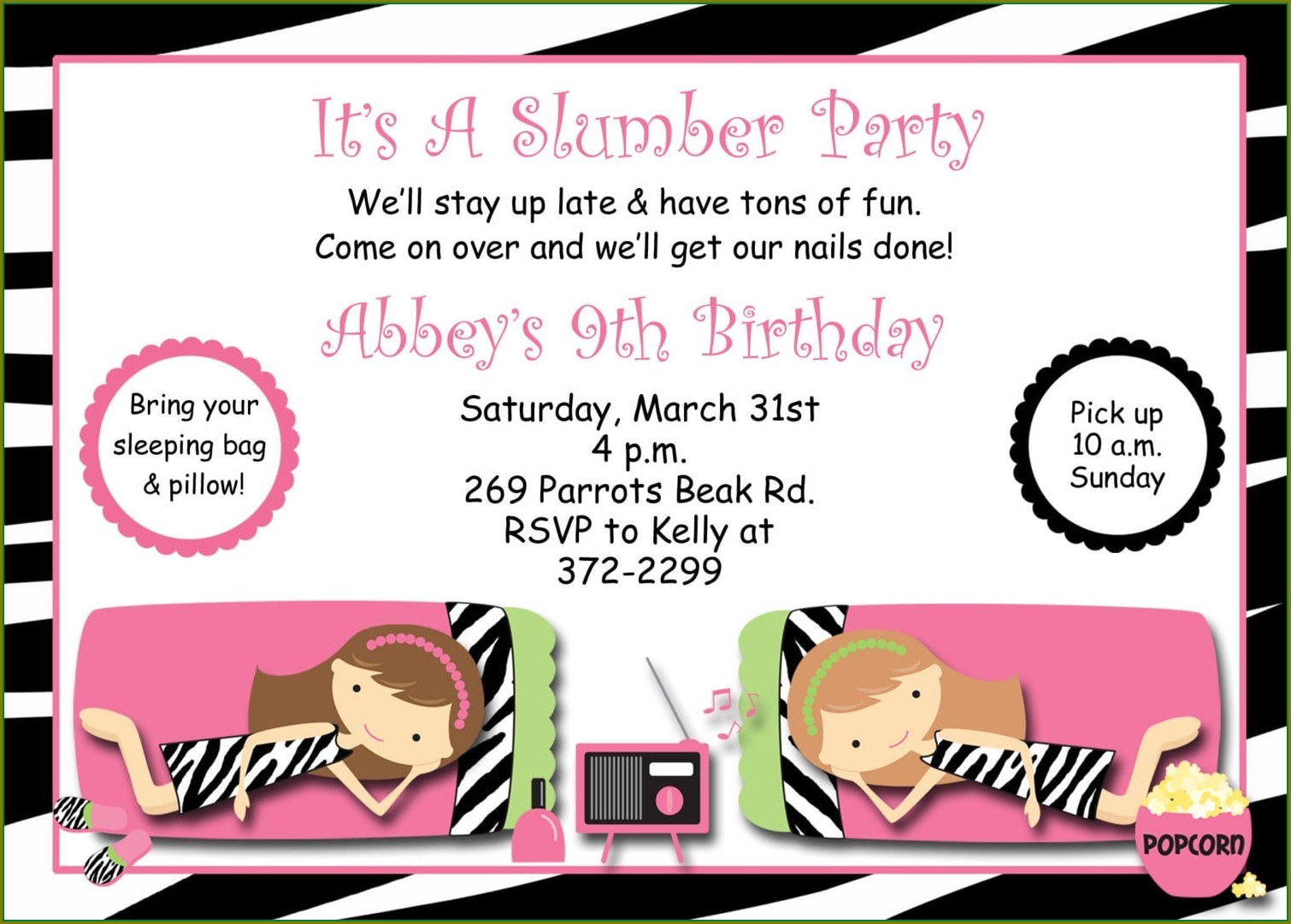 Teenage Invitation Templates