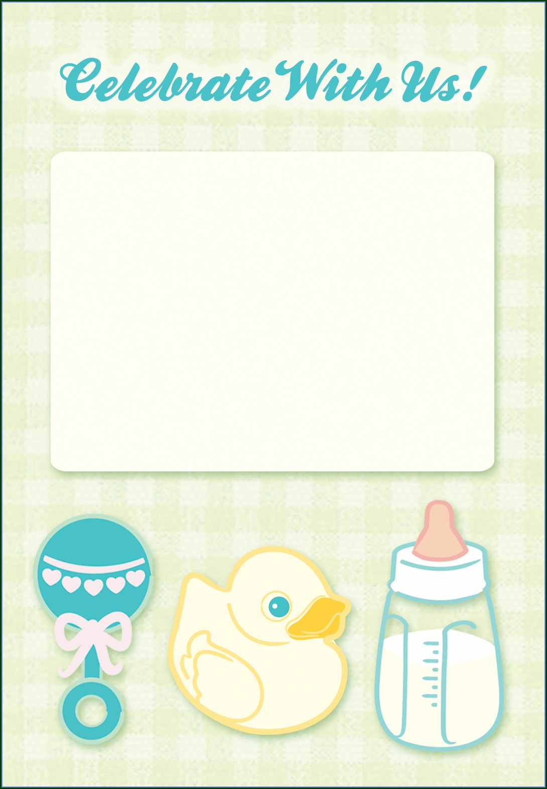 Template Baby Shower Invitation Background