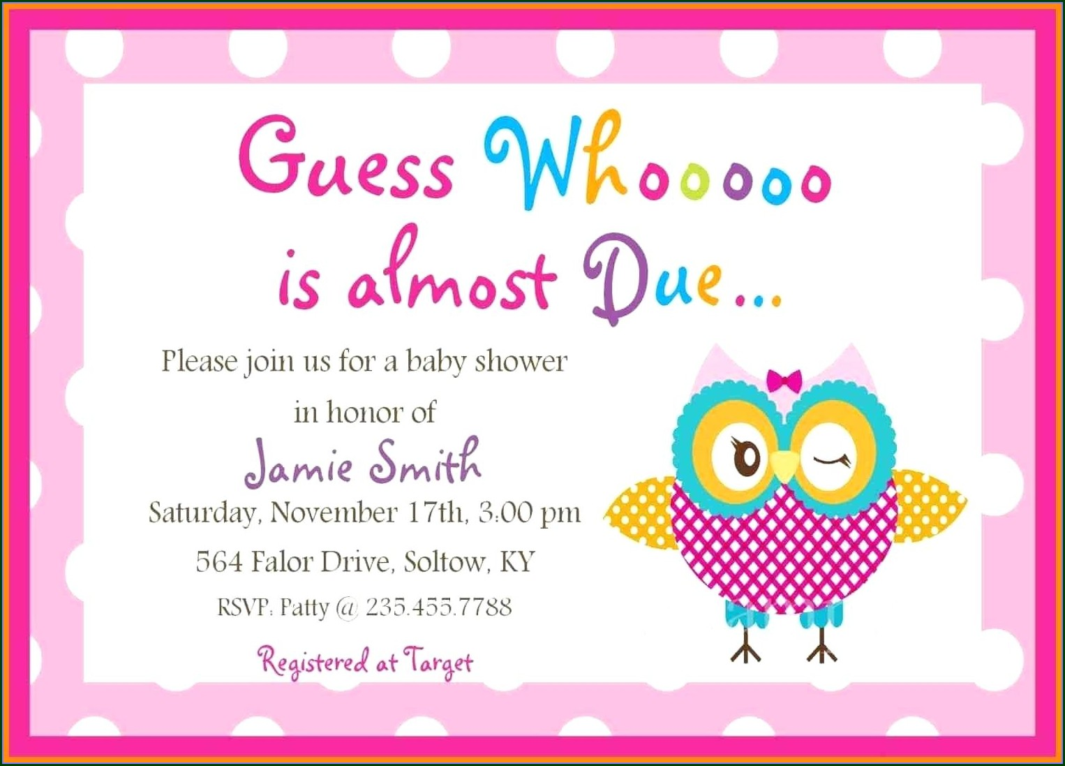 Template Baby Shower Invitation Ideas