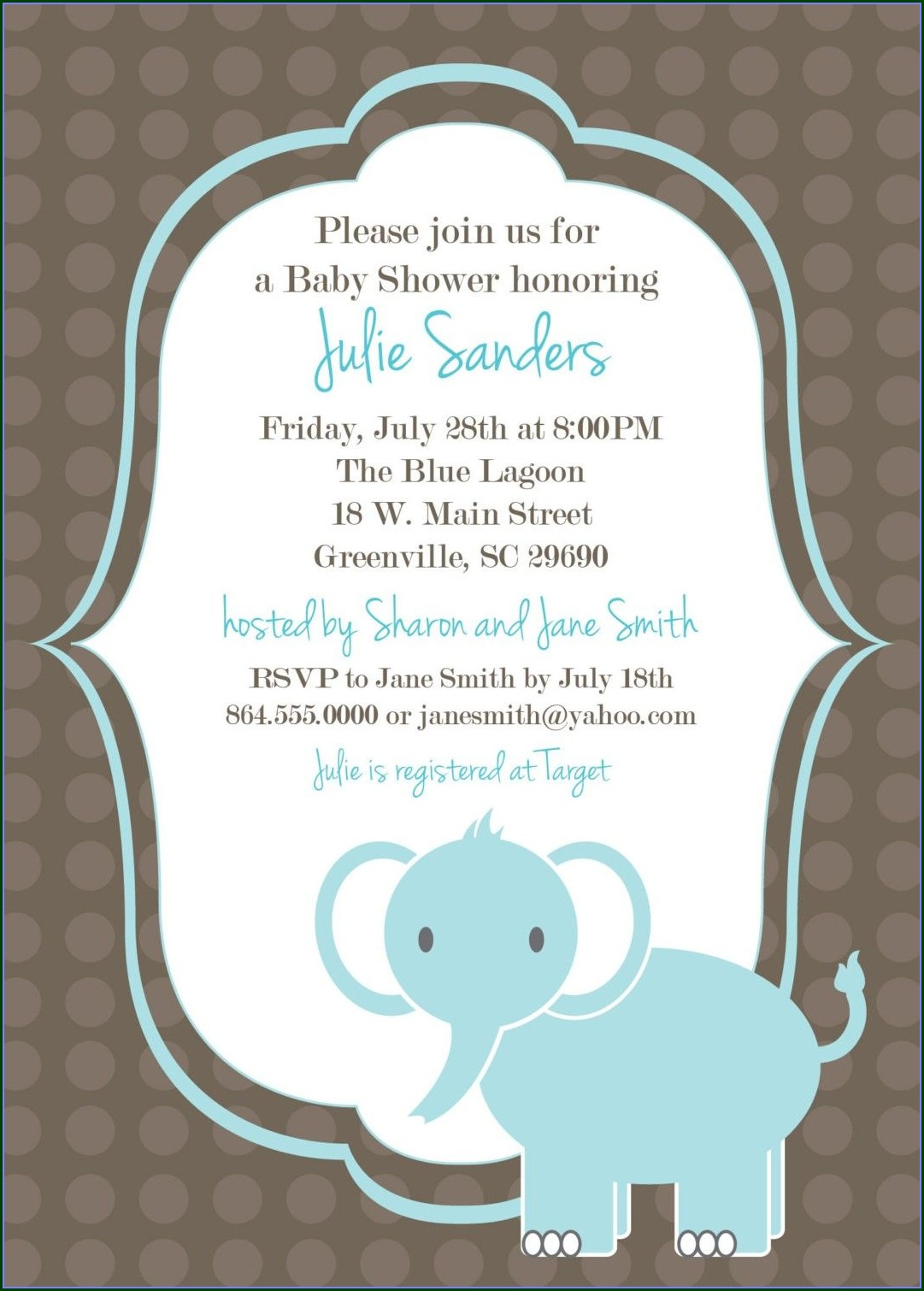 Template Baby Shower Invitations Free