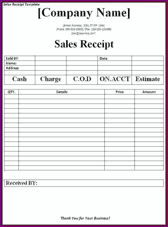 Template For Invoice In Excel