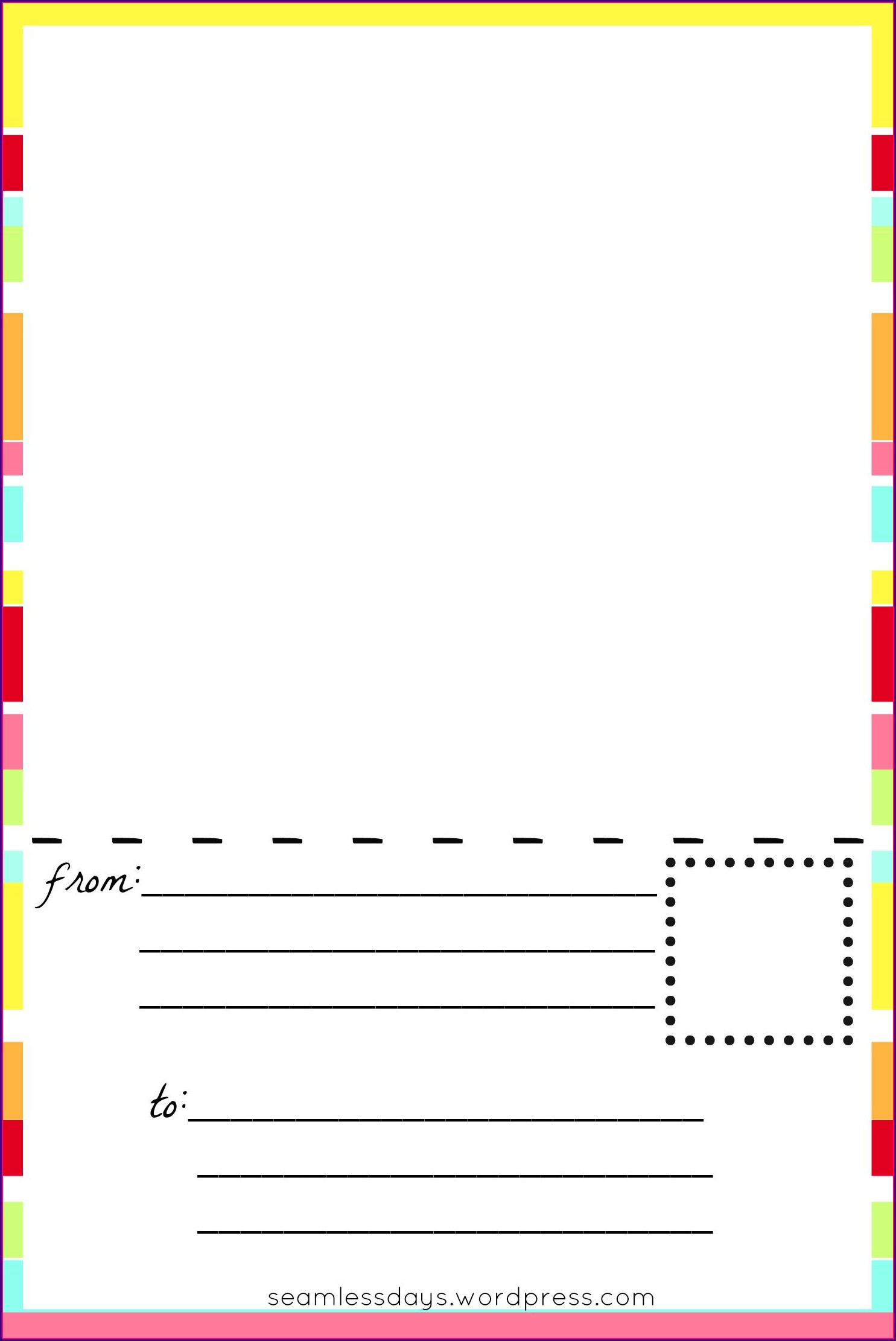 Template For Postcards