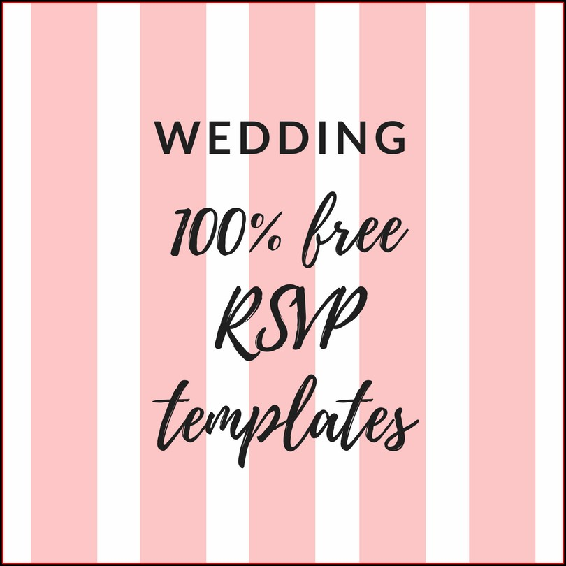 Template Free Printable Rsvp Cards