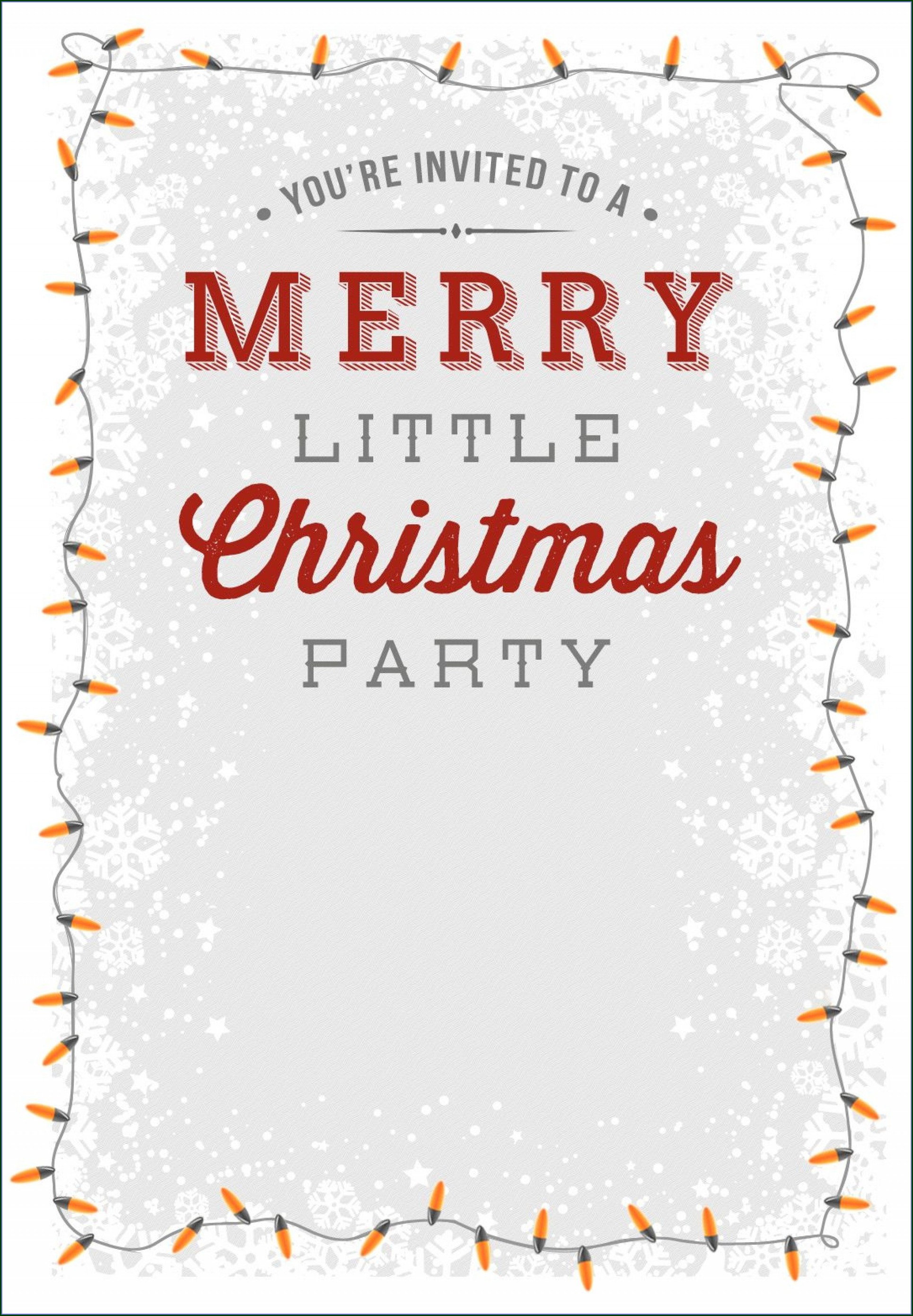Template Ideas Downloadable Free Christmas Party Invitation Templates
