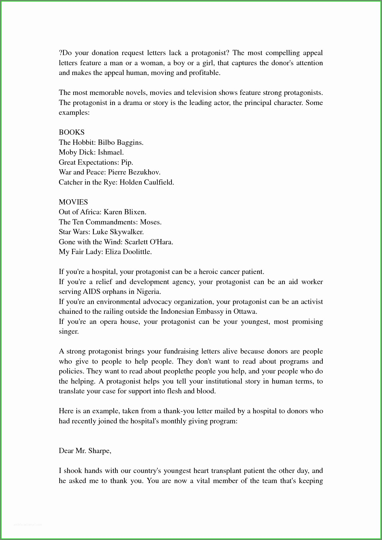 Template Letter Asking For Donations
