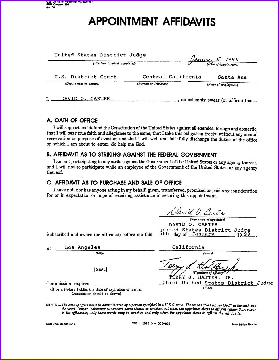 Template Of Affidavit Marriage