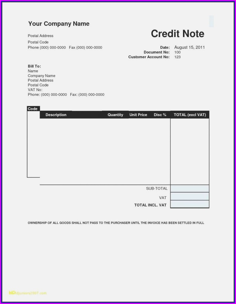 Templates Of Invoices For Services
