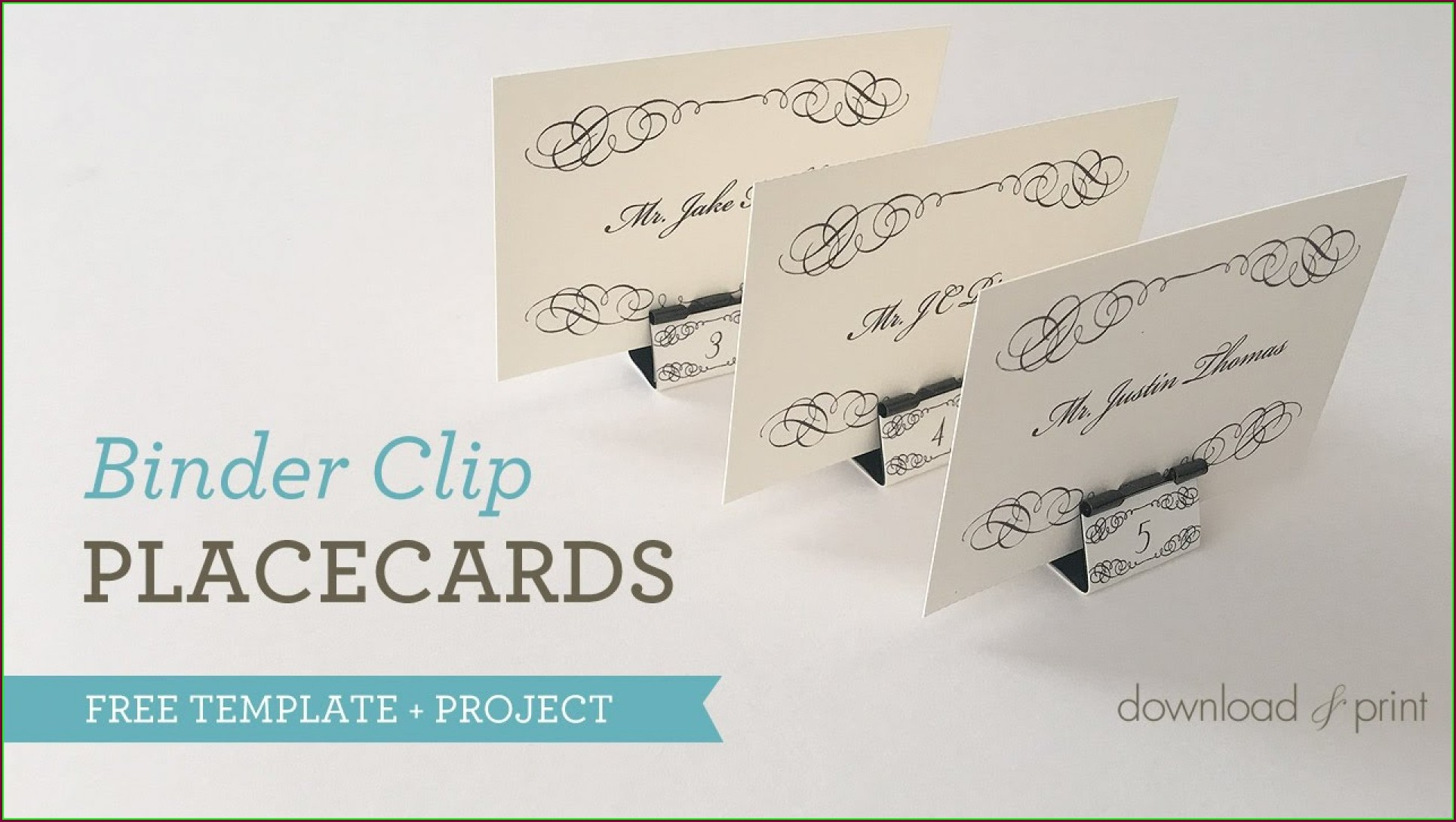Tent Place Card Template 6 Per Sheet