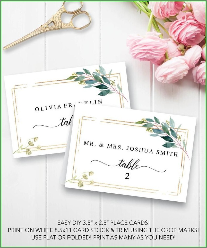 Tented Escort Card Template