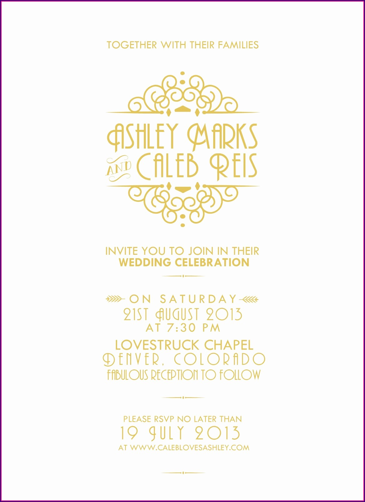 The Great Gatsby Party Invitation Templates