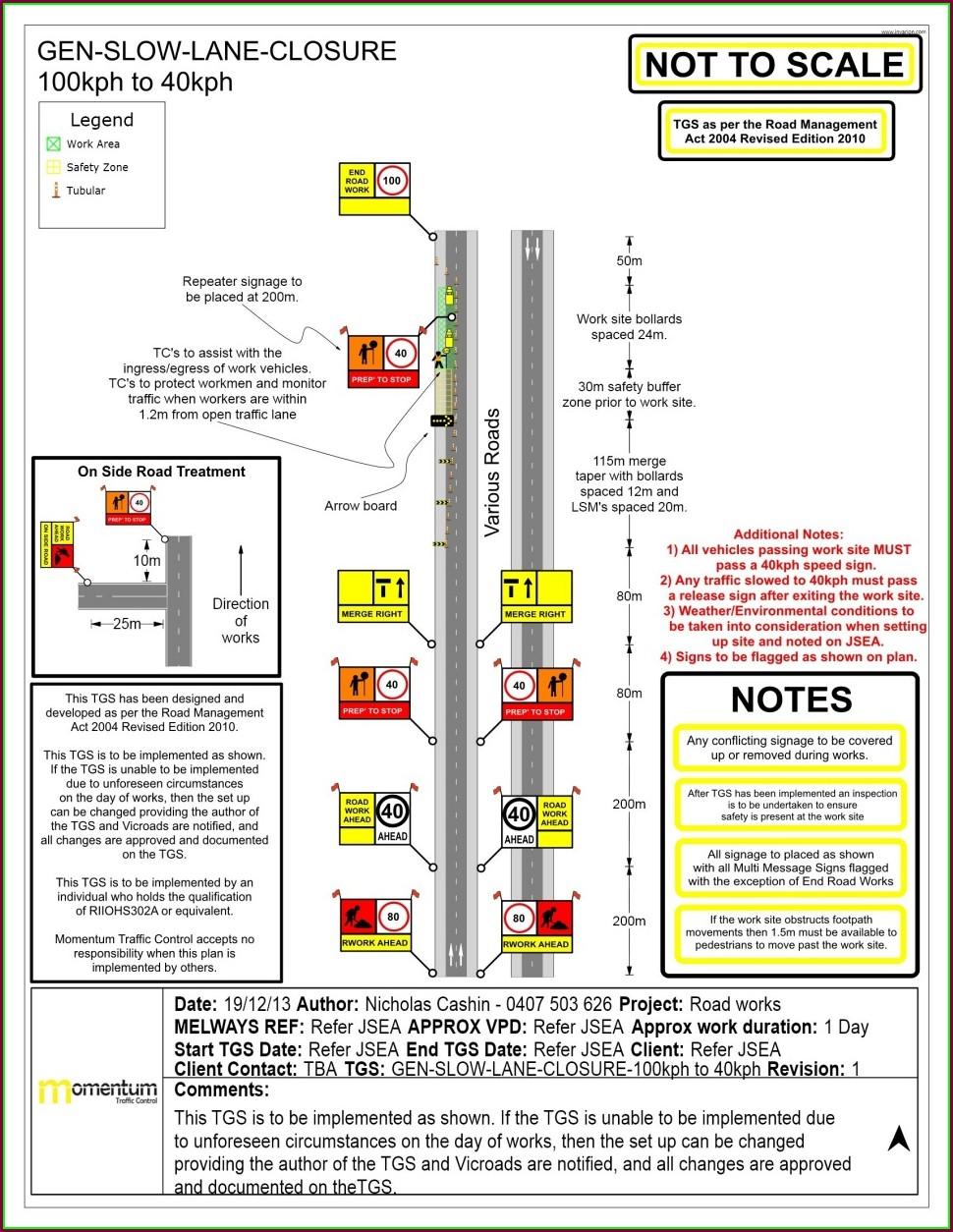 Traffic Control Plan Template Free