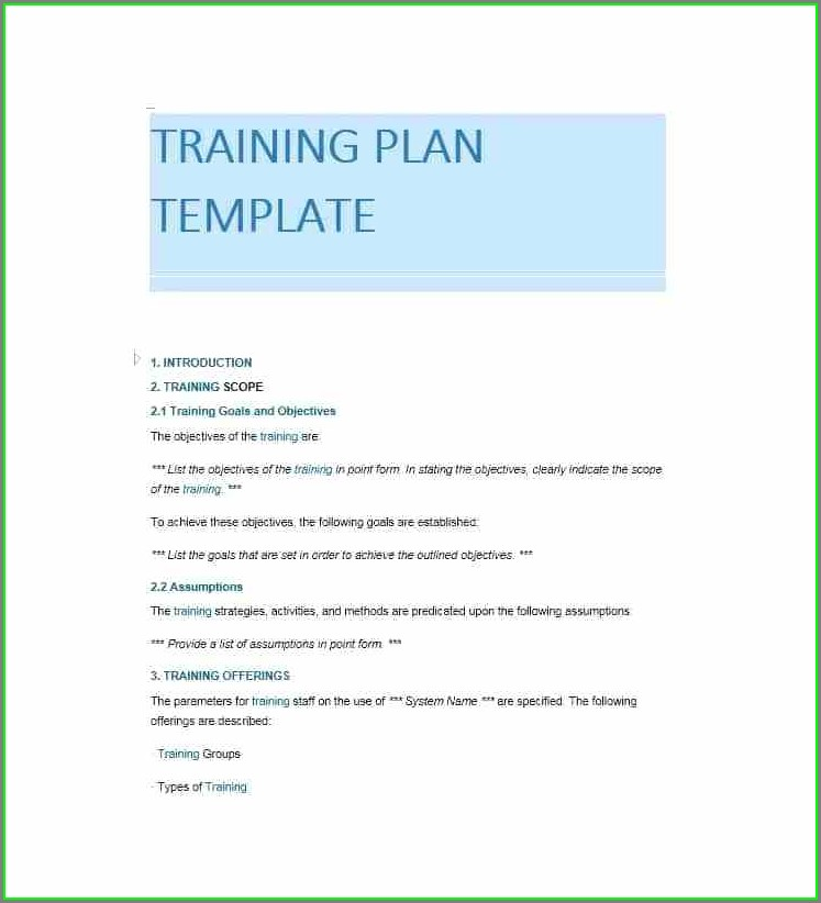 Training Booklet Employee Training Manual Template Word