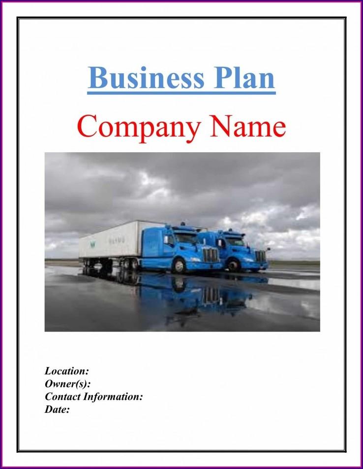 Trucking Business Plan Template Free