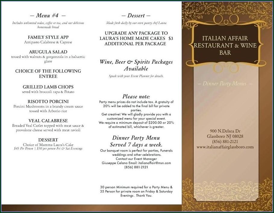 Tudor Banquet Menu Template