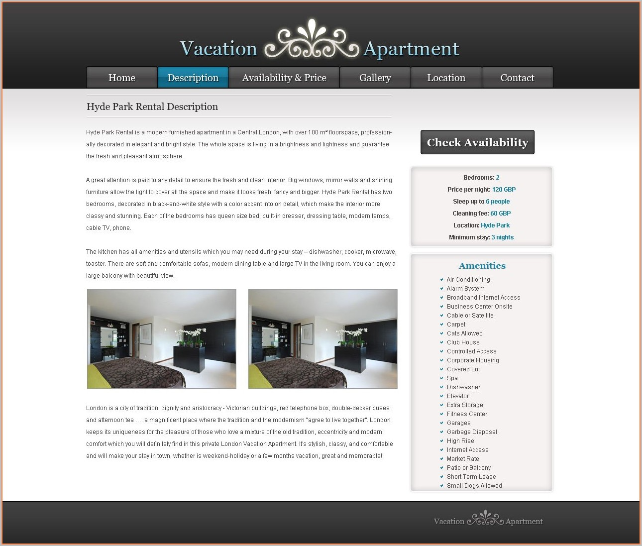 Vacation Rental Website Templates