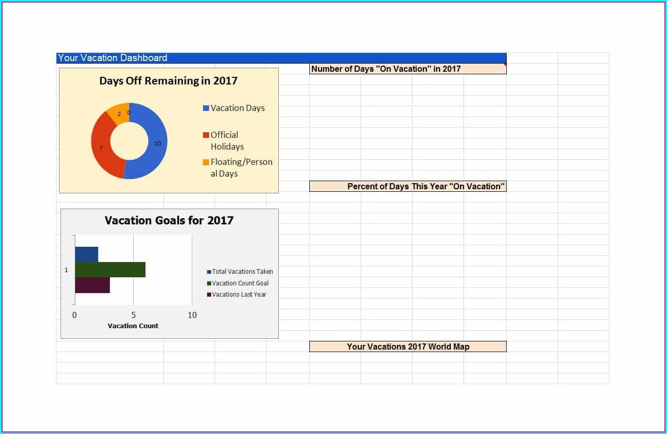 Vacation Tracker Excel Template 2019