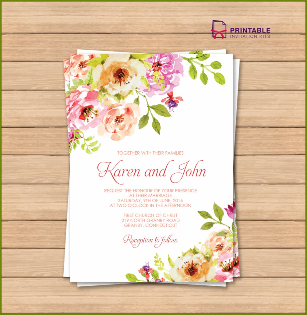 Vintage Floral Invitation Template Free