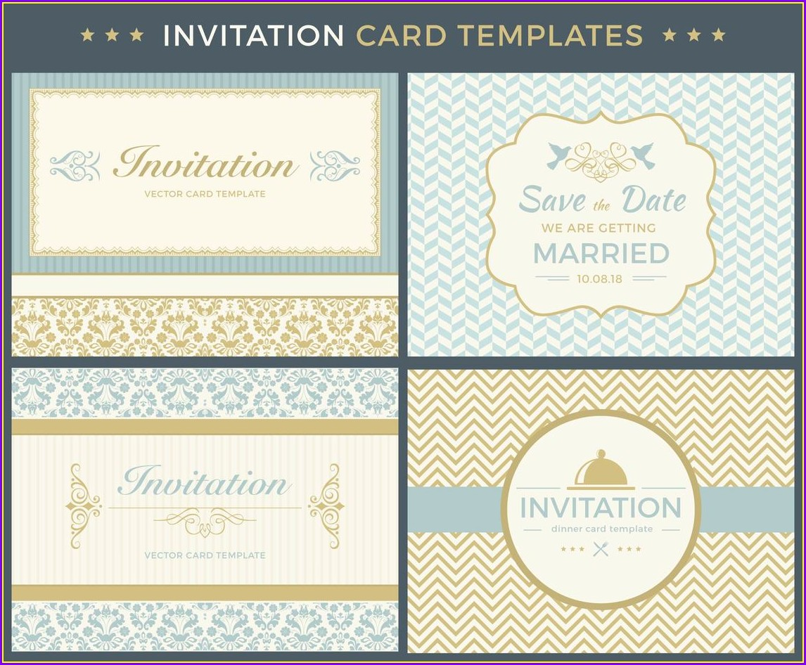 Vintage Invitation Templates