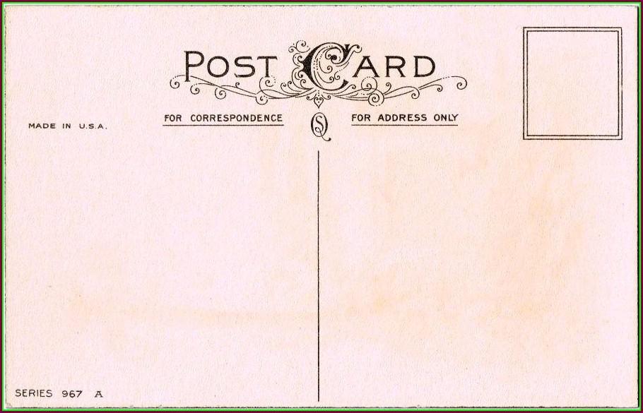 Vintage Postcard Template Photoshop