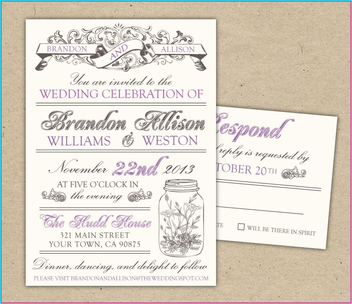 Vintage Wedding Invitation Templates Free Download