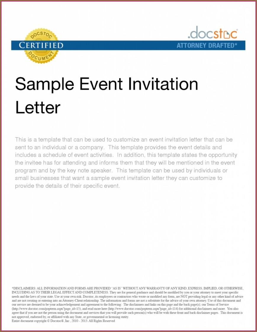 Vip Event Invitation Template