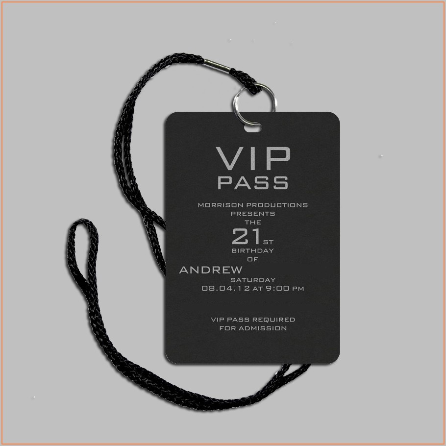 Vip Pass Invitation Template Free