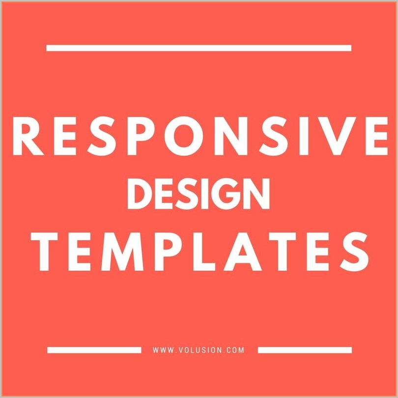 Volusion Templates Responsive