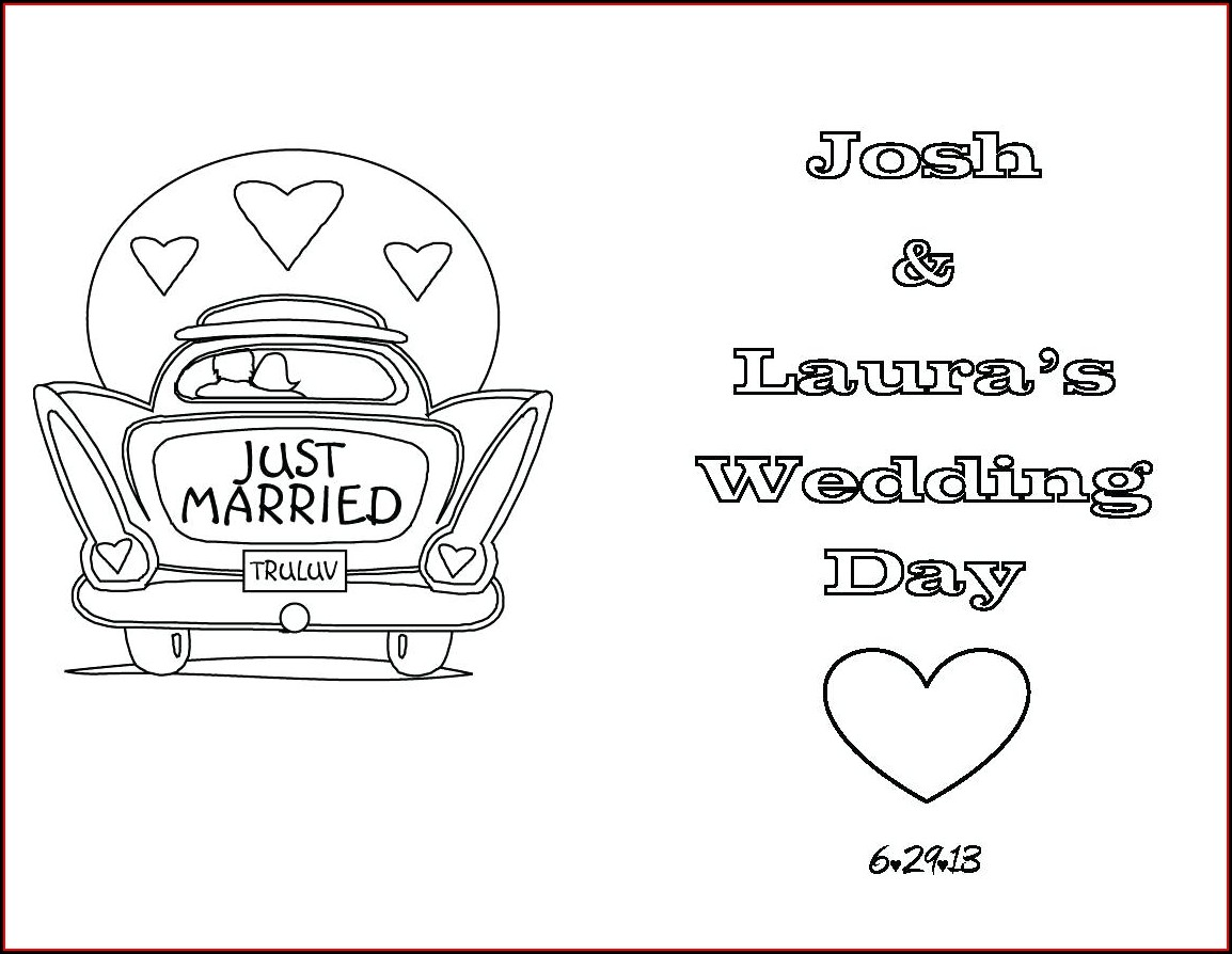 Wedding Coloring Book Template
