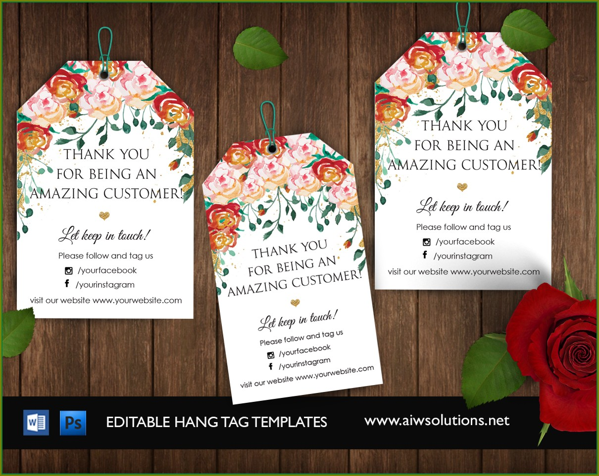 Wedding Favor Tags Template Word Free