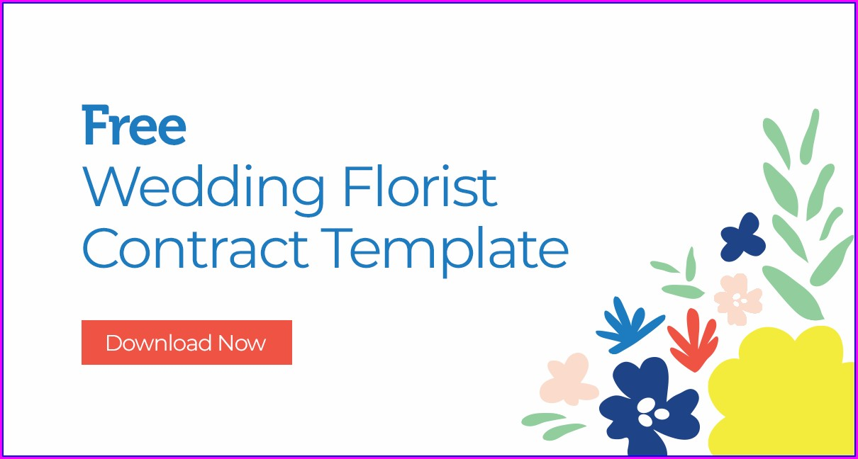 Wedding Florist Contract Template