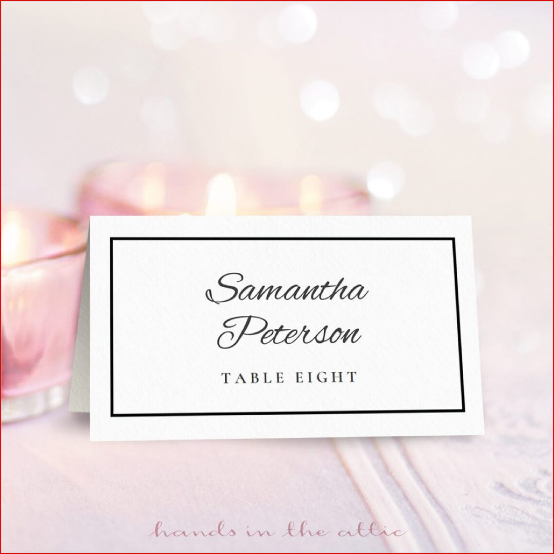 Wedding Name Place Cards Template Free