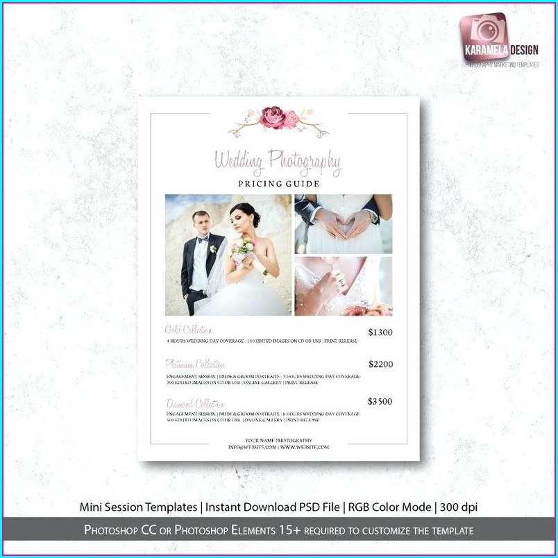 Wedding Photography Price List Template Free Download