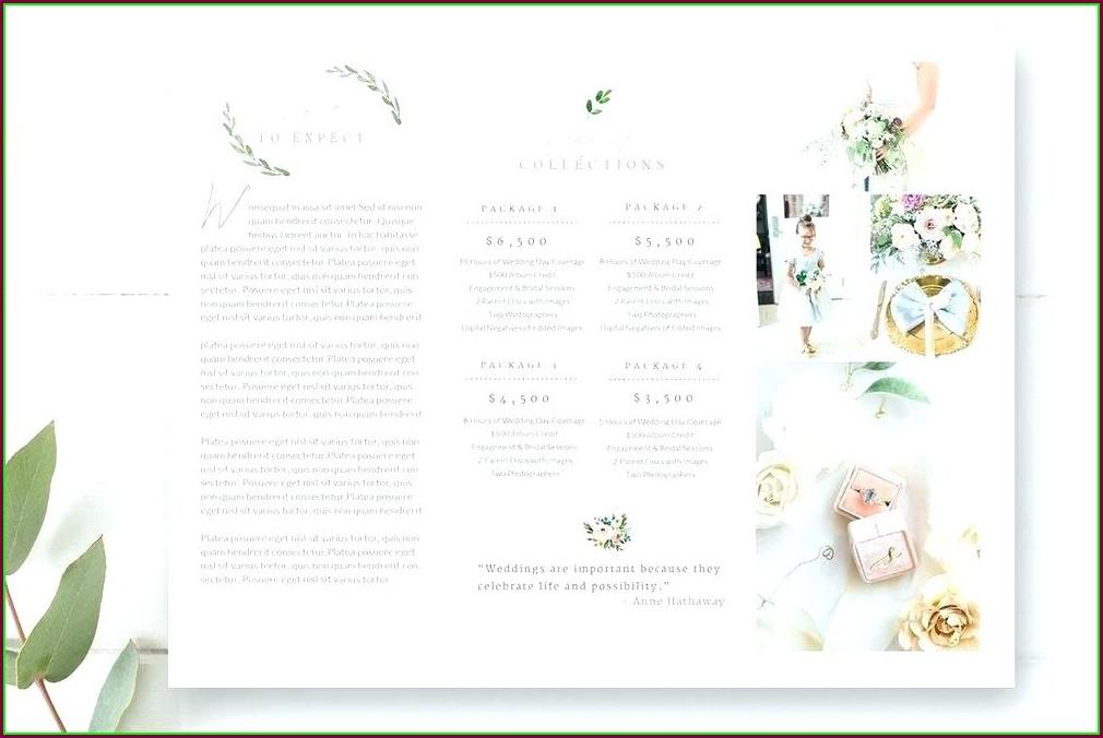 Wedding Planner Brochure Template Free