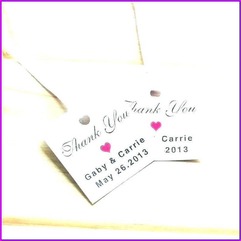 Wedding Thank You Sticker Template