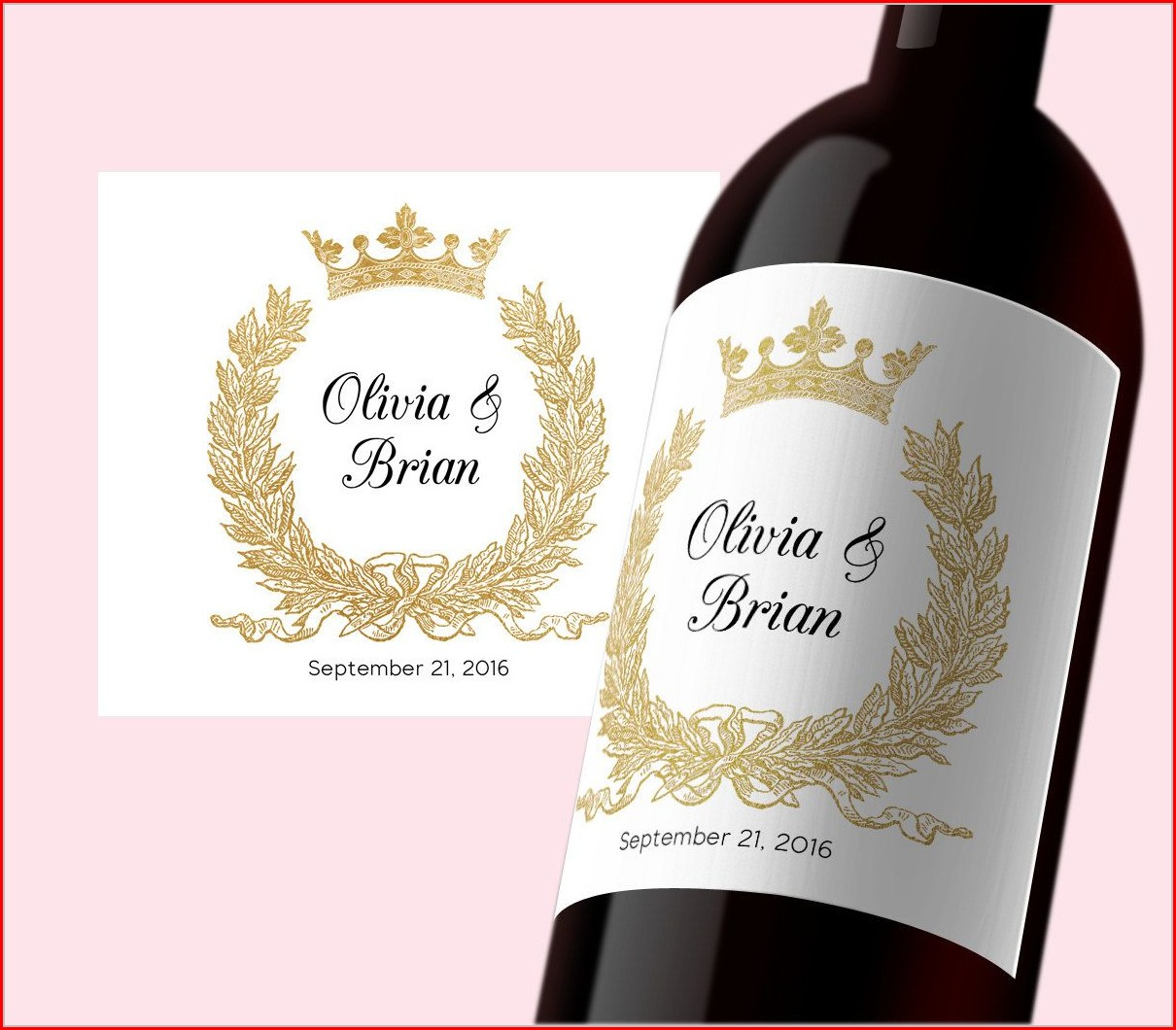 Wedding Wine Label Template