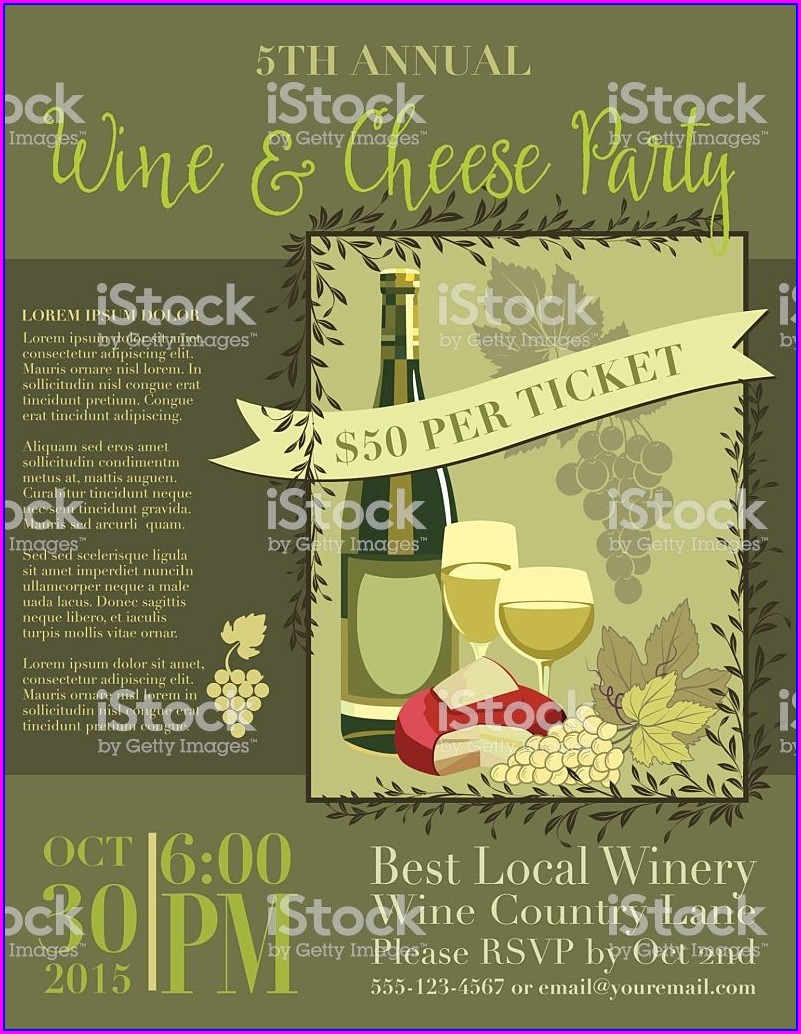 Wine And Cheese Invitation Template