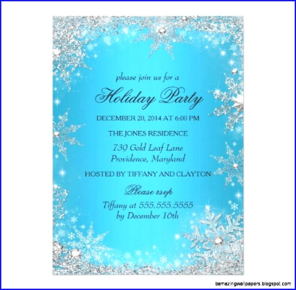 Winter Party Invitation Template