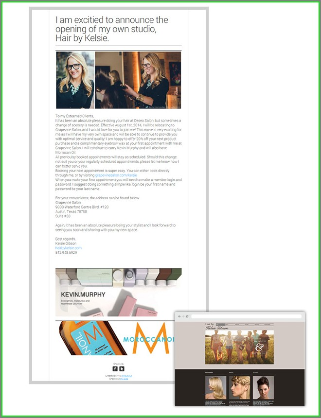 Wix Newsletter Template