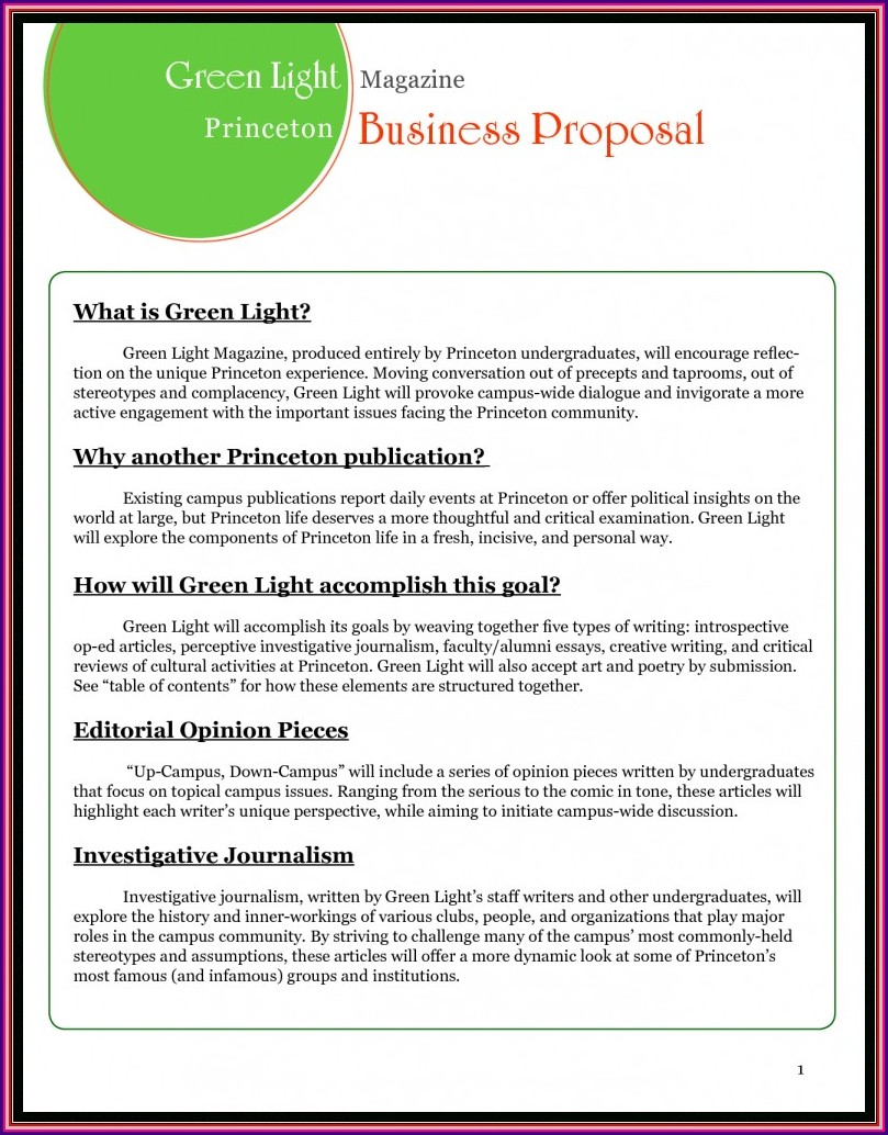 Word Business Proposal Template Free Download
