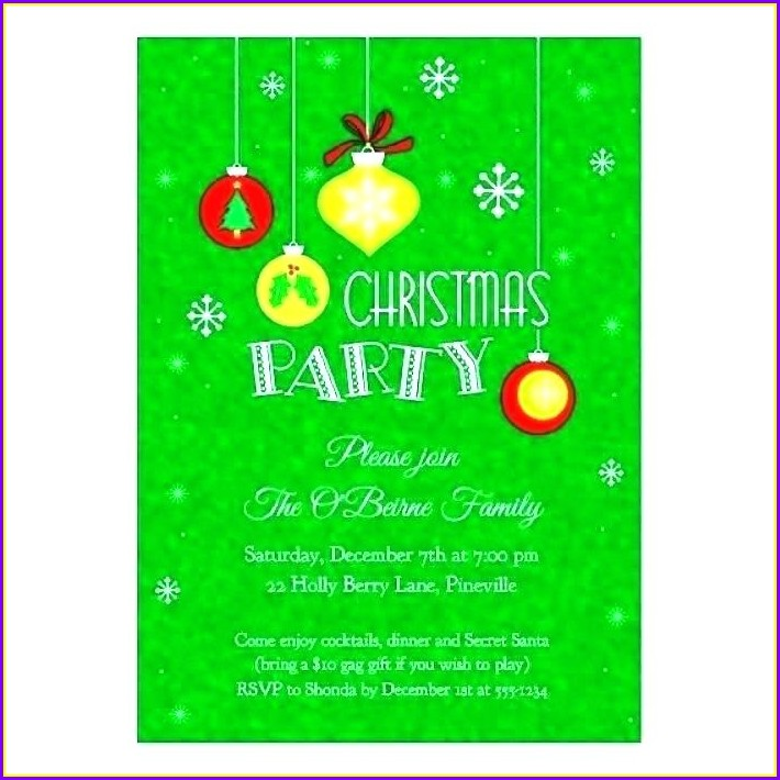 Word Document Christmas Invitation Template Word Free