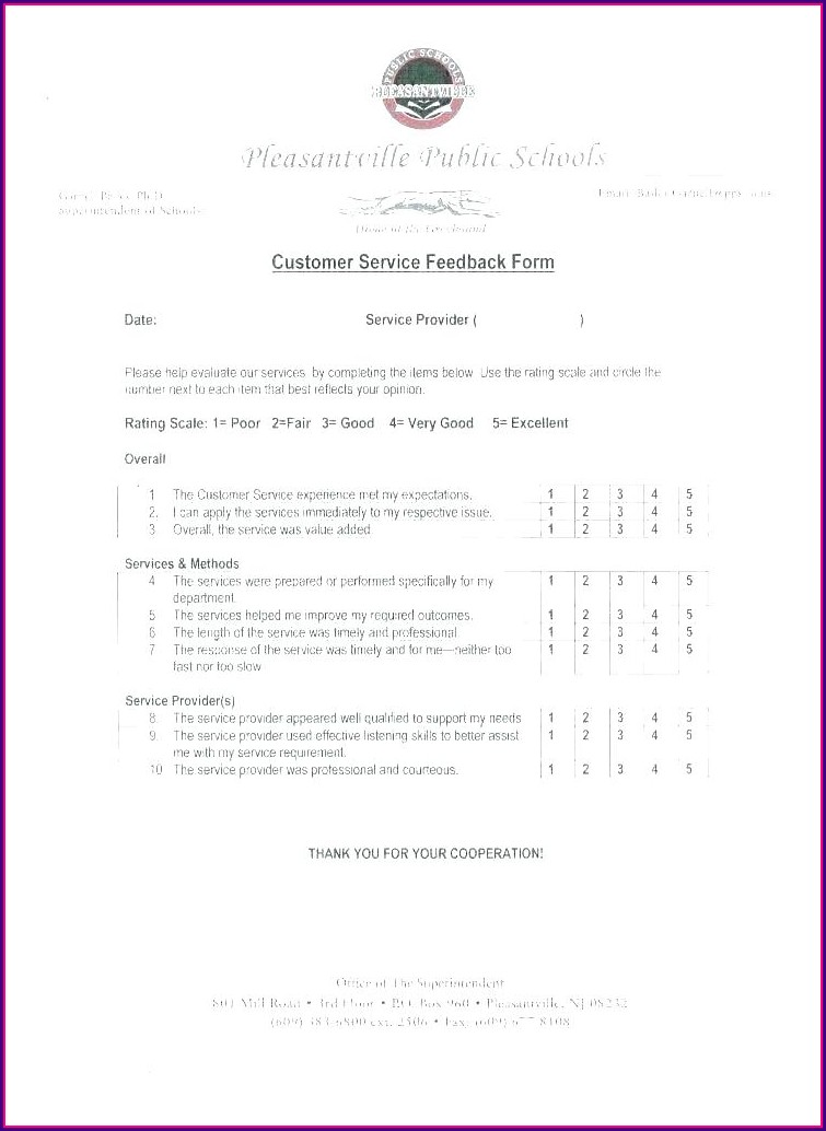 Word Document Customer Satisfaction Survey Template Free