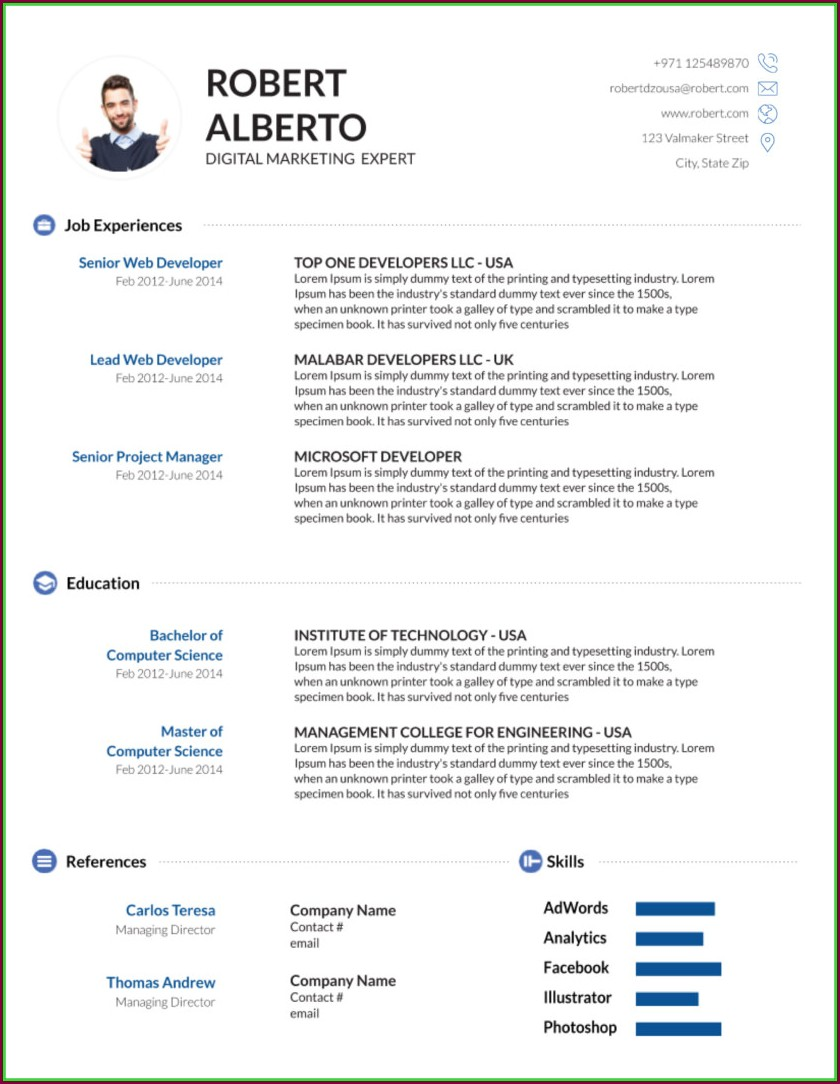 Word Document Cv Template Word Resume Templates Free