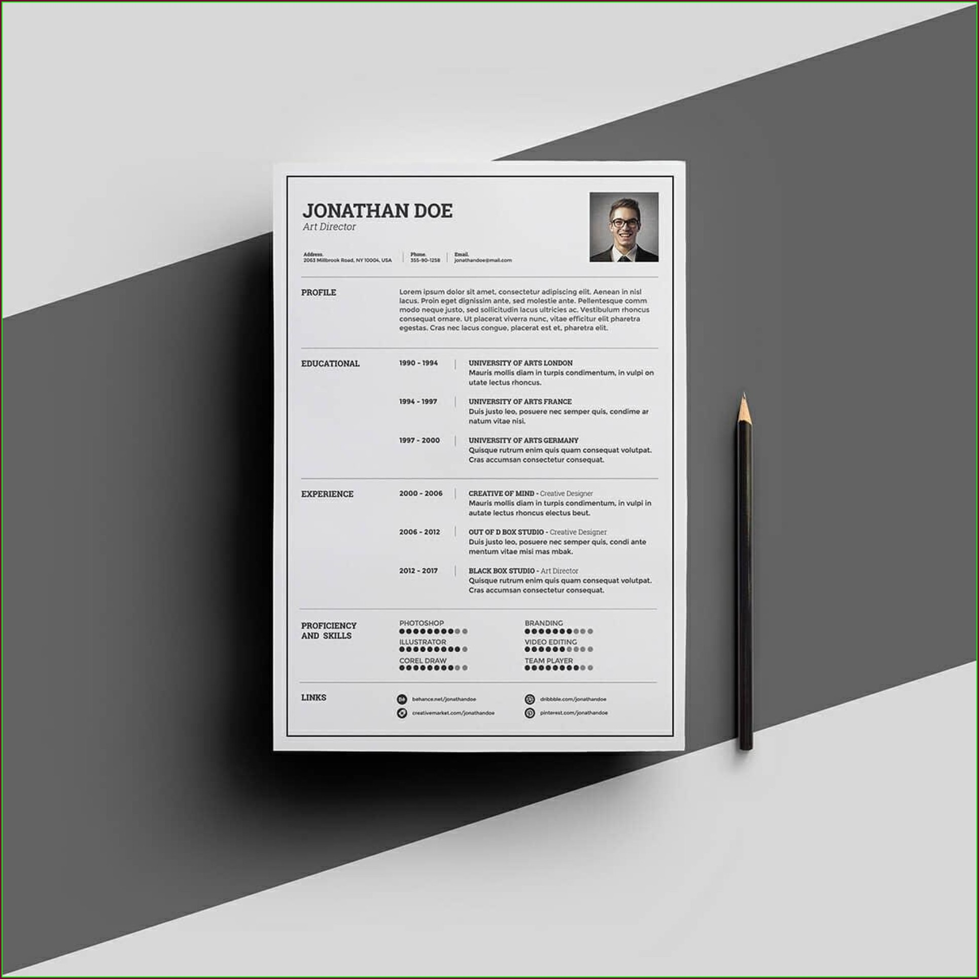 Word Document Free Resume Templates With Photo