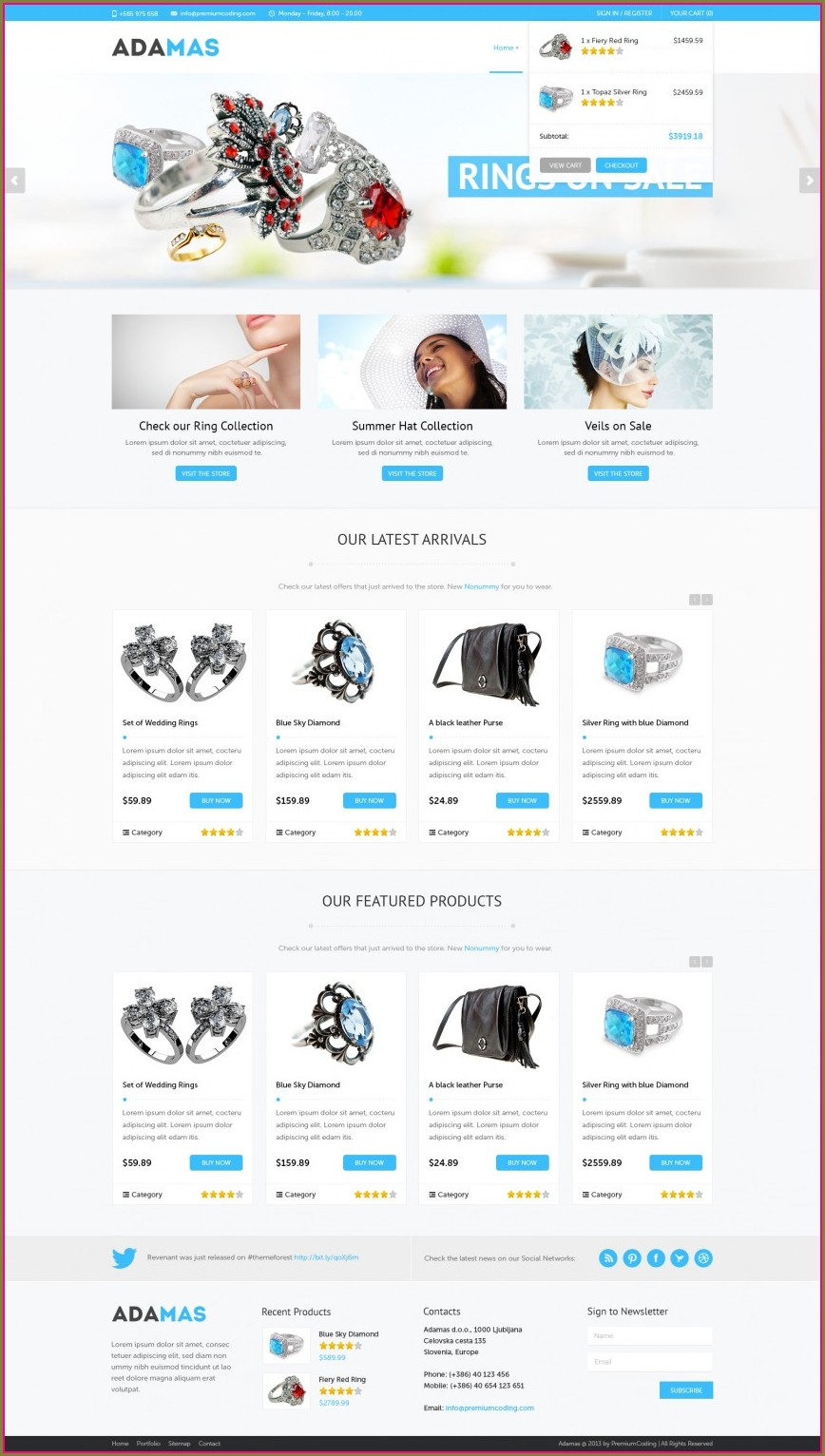 Wordpress Shopping Cart Template Free Download