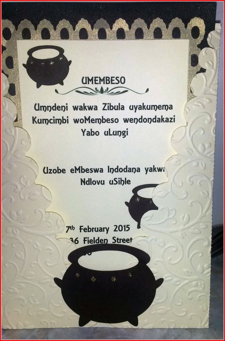 Xhosa Traditional Wedding Program Template