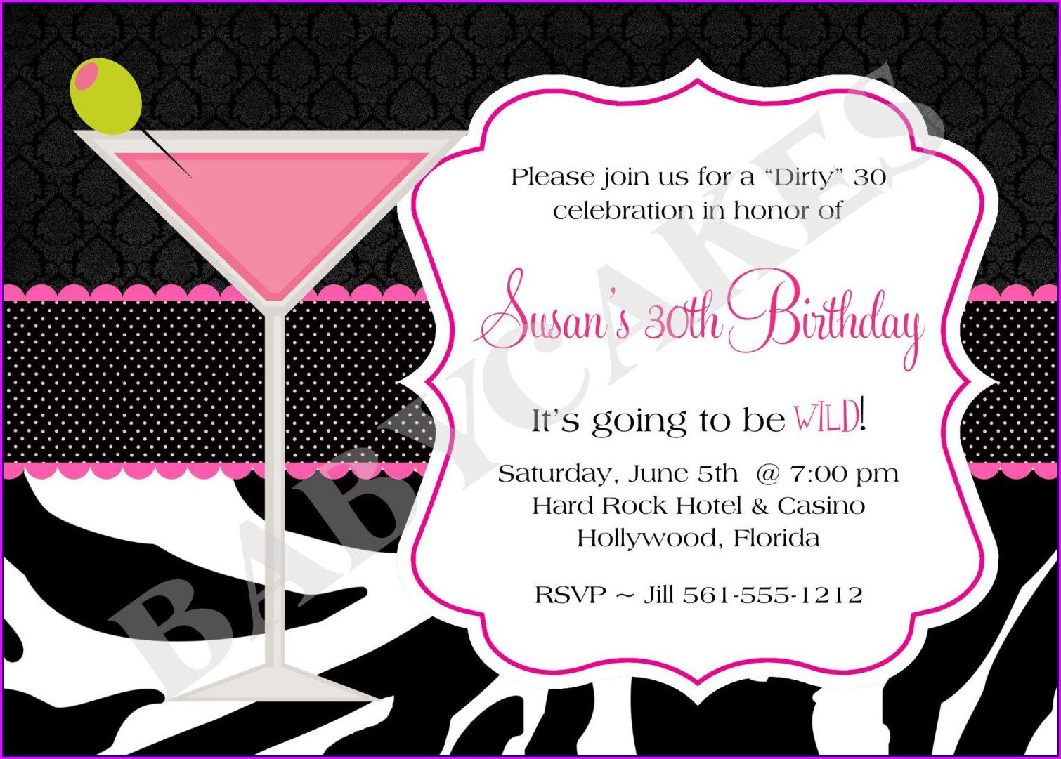 30th Birthday Invitation Templates For Her