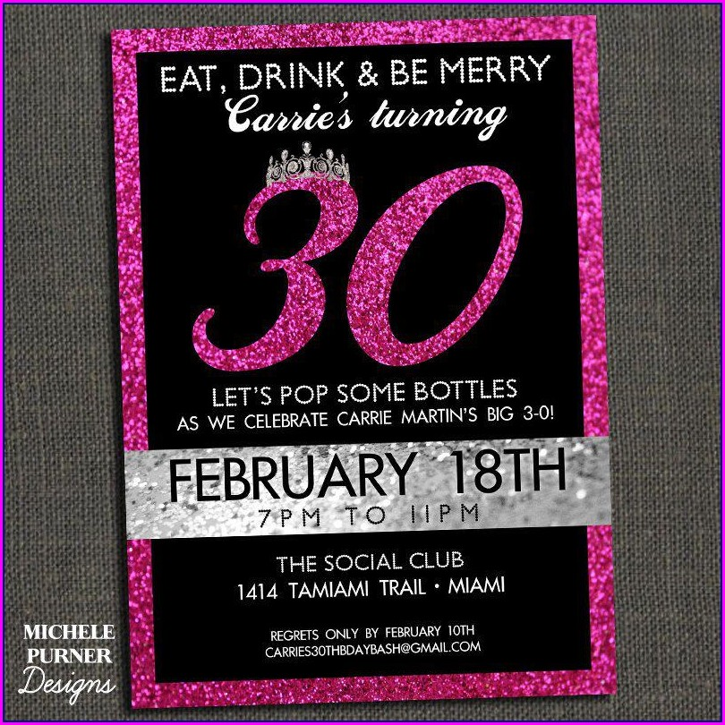 30th Birthday Invitation Templates Free Download