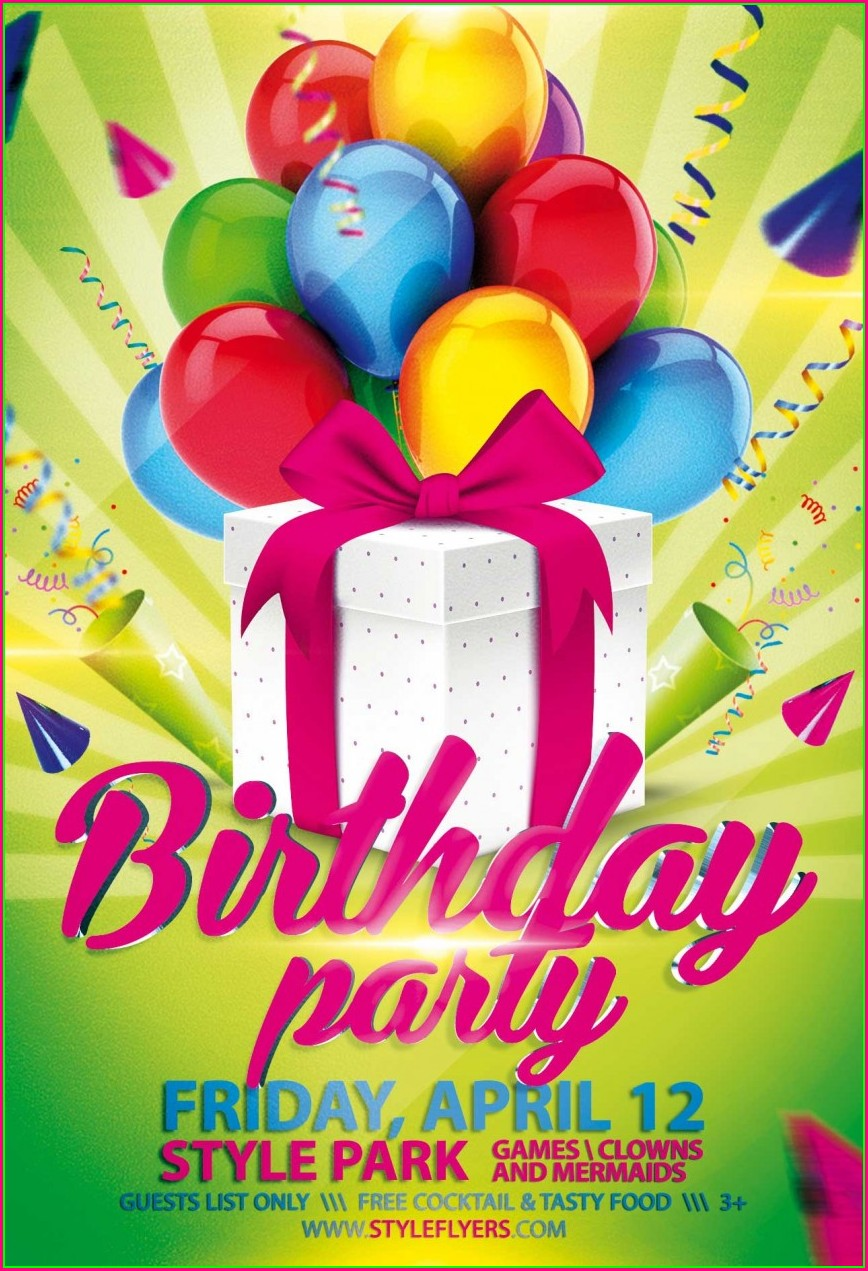 50th Birthday Party Flyer Templates Free