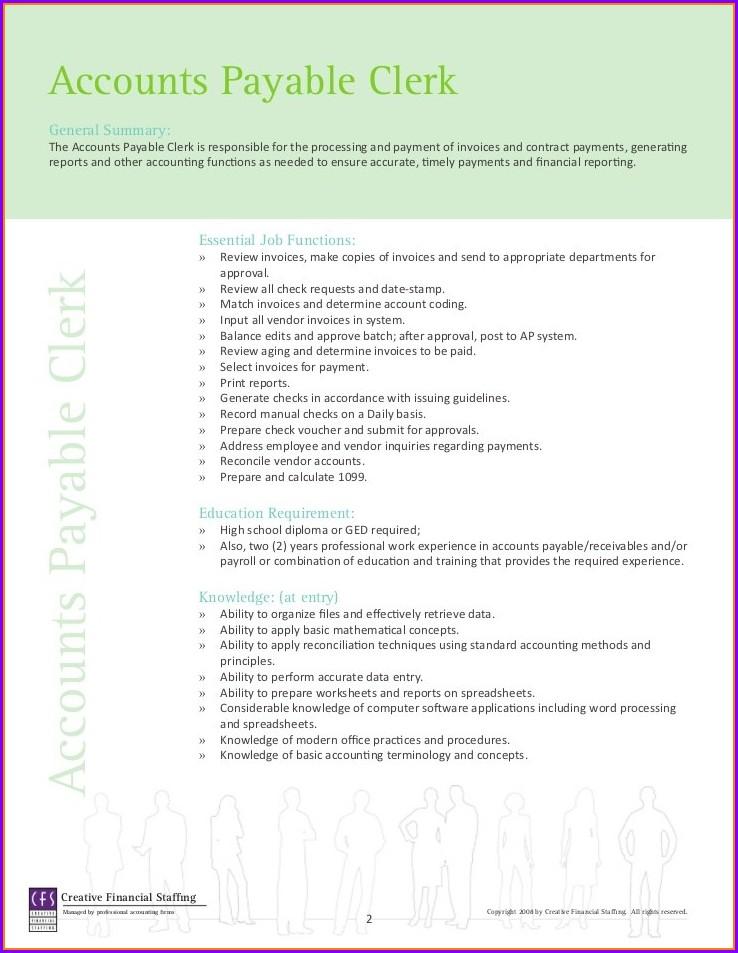 Accounts Payable Clerk Resume Template